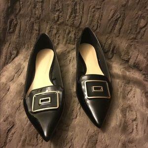 Zara Shoes - 12/14 HP🎉Zara Black Shoes MetalSize 9/10 40
